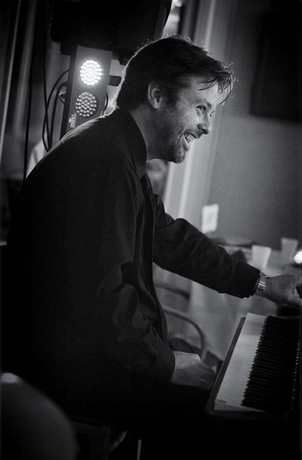 Chris playing piano